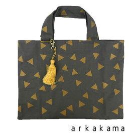 arkakama (アルカカマ) Tassel SCHOOL BAG Triangle おしゃれ キッズ 男の子 女の子 レッスンバック かわいい 子供