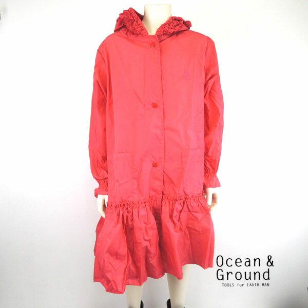 OCEAN&GROUND(オーシャンアンドグラウンド) GIRL'S レインコート ランドセル対応 (110-130cm) キッズ 子供 おしゃれ 女の子