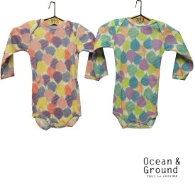 OCEAN&GROUND(オーシャンアンドグラウンド) 長袖ボディーシャツ BALLOOOON (70-80) ベビー 子供 綿100 男の子 女の子
