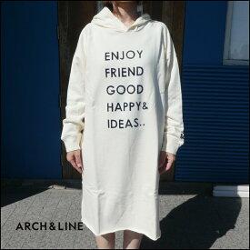 ARCH&LINE(アーチ&ライン)TERRY LOOP HOOD DRESS レディース スウェット ワンピース おしゃれ