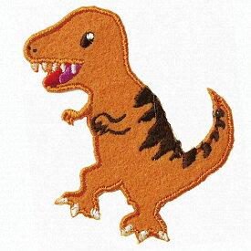 ティラノザウルス アイロン接着タイプ ワッペン 恐竜 入園 保育園 幼稚園 アイロン