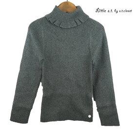 【SALE 50%OFF】Little s.t.closet (STクローゼット) タートル コットンニット (100-130) 長袖Tシャツ おしゃれ キッズ 女の子 かわいい 子供服 セール