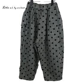 【SALE 50%OFF】Little s.t.closet (STクローゼット) ドット ツータックパンツ (100-130)ルーズ  おしゃれ キッズ 女の子 かわいい 子供服 セール