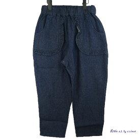 Little s.t.closet (STクローゼット) フリル デニムパンツ (140-150cm) ルーズ おしゃれ キッズ 女の子 かわいい 子供服