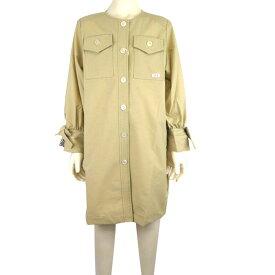 【SALE 50%OFF】BLUEU AZUL (ブルーアズール) 袖リボン シャツワンピース (140-150) おしゃれ キッズ 女の子 かわいい 子供服