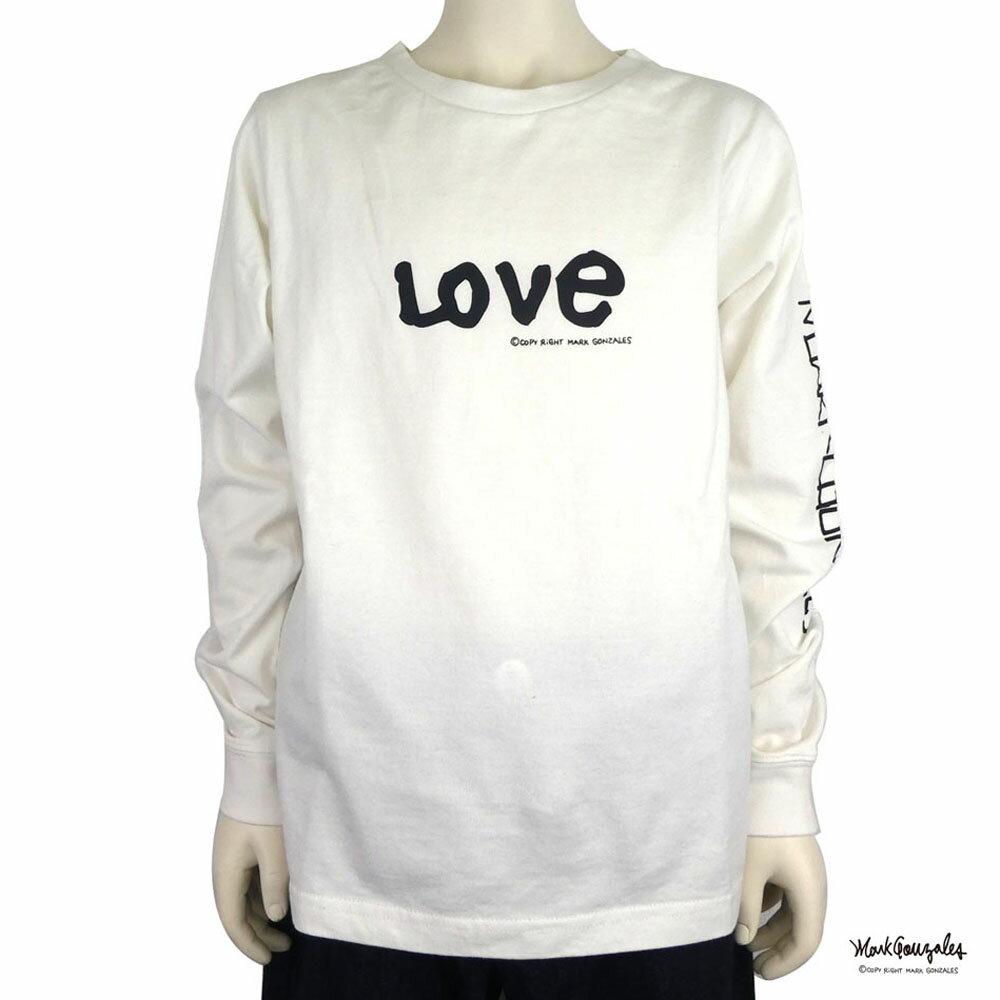 【SALE 40%OFF】MARK GONZALES(マークゴンザレス)LOVE TEE 長袖Tシャツ(90-140) 子供服 おしゃれ 男の子 女の子
