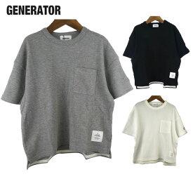 GENERATOR (ジェネレーター) ワッフルポケットビッグTシャツ(90-160) 半袖Tシャツ キッズ 子供服 ジュニア 男の子 女の子 おしゃれ
