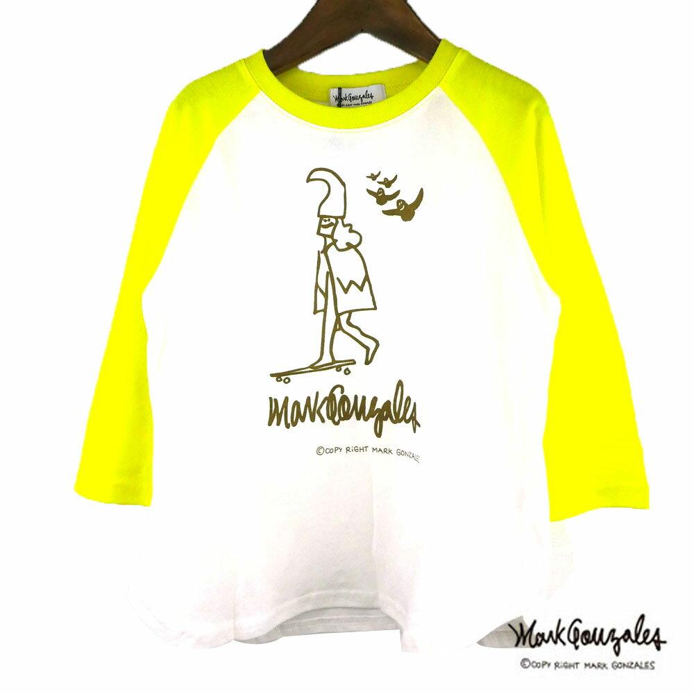 MARK GONZALES(マークゴンザレス)ラグラン3/4袖Tシャツ(120-150) 7分袖Tシャツ 子供服 キッズ ジュニア おしゃれ 男の子 女の子