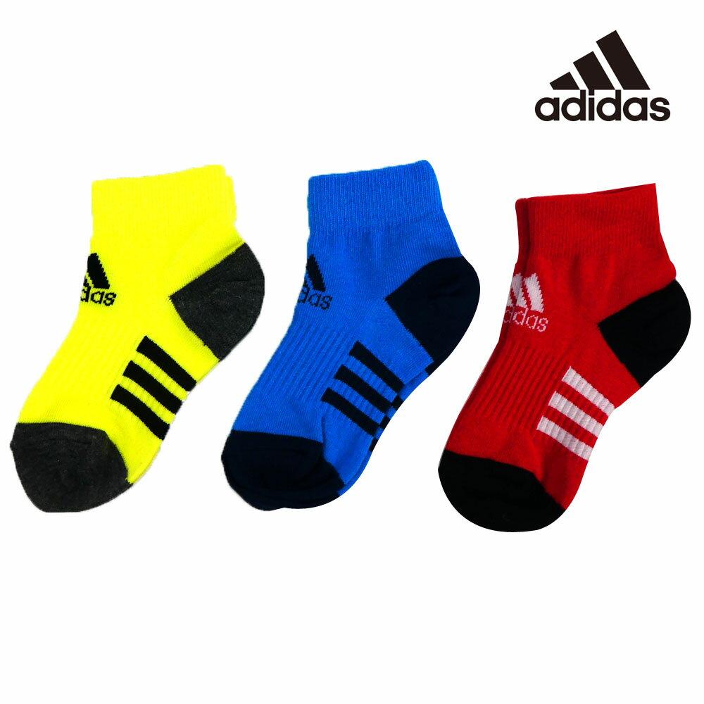 adidas(アディダス) キッズ3P ショートソックス(19-23cm) 靴下 おしゃれ キッズ 男の子 女の子 かわいい 子供