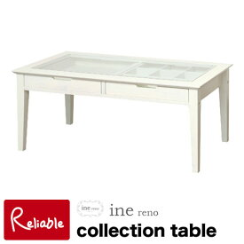 ine reno アイネリノ コレクションテーブル Collection Table INT-2576WH 市場株式会社【N/S/169】