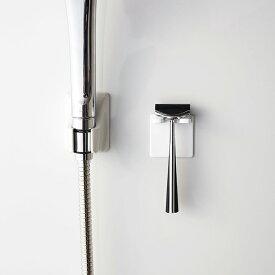 マグネットバスルームシェーバーホルダー【MIST/ミスト】(ホワイト/04714)【CP】山崎実業(YAMAZAKI)マグネットが付く浴室壁用 浴室用 マグネット 磁石 ヒゲ剃り置き 引っ掛ける