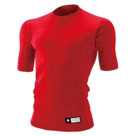 デサント(DESCENTE)丸首半袖リラックスFITシャツレッド(ds-std700-red)