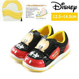 ディズニー ベビーシューズ スニーカー sneaker Disney DN B1127 ベビー キッズ ディズニーの人気キャラクター ミッキーマウス 男の子 女の子 黒 kids