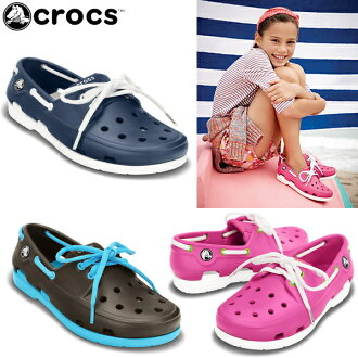 卡駱馳鞋孩子婦女的沙灘船鞋 crocs 沙灘線船鞋花邊 GS 15914 兒童鞋涼鞋休閒涼鞋-