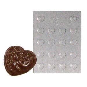 18ヶ取チョコレート型 -ハート型 90-1023 240x182mm
