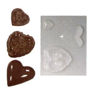 3ヶ取チョコレート型 -ハート型 90-1602 240x182mm