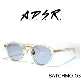 A.D.S.R. (エーディーエスアール) SATCHMO 〔サッチモ〕 03 adsr サングラス (Clear Gold/Blue Lens)