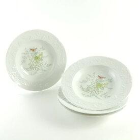【中古】アビランド Imperatrice アンペラトリス スープ皿 4枚 20プレート 中皿 深皿 ディープ S14311K