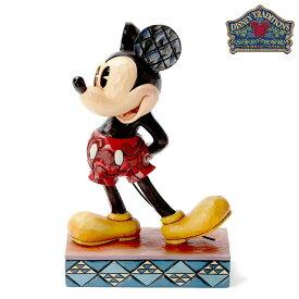 ミッキー オリジナル【Disney Traditions】ディズニー フィギュア 置物 JIM SHORE ジムショアー ミッキーマウス Mickey Mouse 彫像 木彫り風 インテリア ギフト プレゼント レトロ クラシックEnesco社認定 日本正規総代理店 #4032853