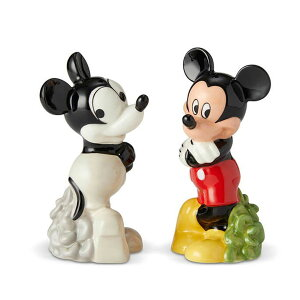 ソルト&ペッパー ミッキー オールド&ニュー【enesco】Disney ディズニー ミッキーマウス Mickey 調味料入れ 塩 胡椒 しお こしょう キャラクター 食器 プレゼント ギフト 誕生日Enesco社認定 日本