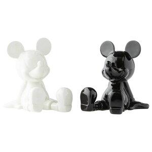 ソルト&ペッパー ミッキー ブラック&ホワイト【enesco】Disney ディズニー ミッキーマウス Mickey 調味料入れ 塩 胡椒 しお こしょう キャラクター 食器 プレゼント ギフト 誕生日Enesco社認定 日