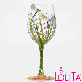 Lolita ワイングラス DRAGON FLYロリータ ハンドペイント グラス wine glass プレゼント おしゃれ ギフト キュート ポップ アメリカ セレブ愛用 ブランドEnesco社認定 日本正規総代理店 #4053099
