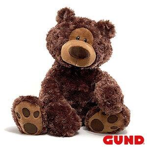 フィルビンベア チョコレート Philbin Bear L【GUND ガンド】ぬいぐるみ テディベア くま クマ 熊 ブラウン Brown 茶色 ちゃいろ もこもこ 手触りふわふわ プレゼント ギフト インテリア 出産祝いGUN