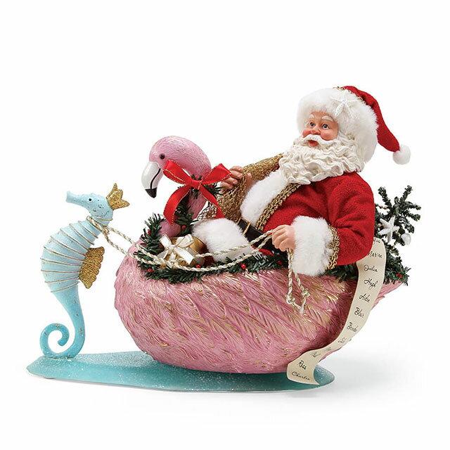 【送料無料】Possible Dreams Flamingo Crossing 【Department56】クリスマス Christmas Xmas サンタ サンタクロース フィギュア 置物 オブジェ 人形 プレゼント ギフト インテリア 装飾 飾り フラミンゴ 夏 タツノオトシゴEnesco社認定 日本正規総代理店
