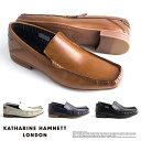 【サイズ交換1回無料】キャサリンハムネット 靴 ビジネスシューズ ビジネス靴 革靴 紳士靴 仕事靴 紐なし靴 メンズ 本…
