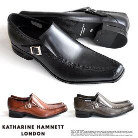 キャサリンハムネット 靴 メンズ ビジネスシューズ 本革 スリッポン ベルトストラップ KATHARINE HAMNETT 31600 SET