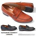【サイズ交換1回無料】キャサリンハムネット 靴 メンズ ビジネスシューズ ビジネス靴 革靴 紳士靴 仕事靴 紐なし靴 本…