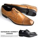 キャサリンハムネット 靴 メンズ ビジネスシューズ 本革 ストレートチップ KATHARINE HAMNETT 3967