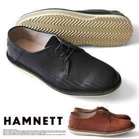 ハムネット カジュアルシューズ 靴 革靴 紳士靴 メンズ ビジカジ 本革 HAMNETT キャサリンハムネット 37030