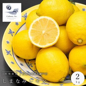 レモン 国産 エコレモン 2kg 農薬不使用 化学肥料不使用 防腐剤ワックス不使用 産地直送 れもん 檸檬 しまなみ 瀬戸内 広島県 送料無料