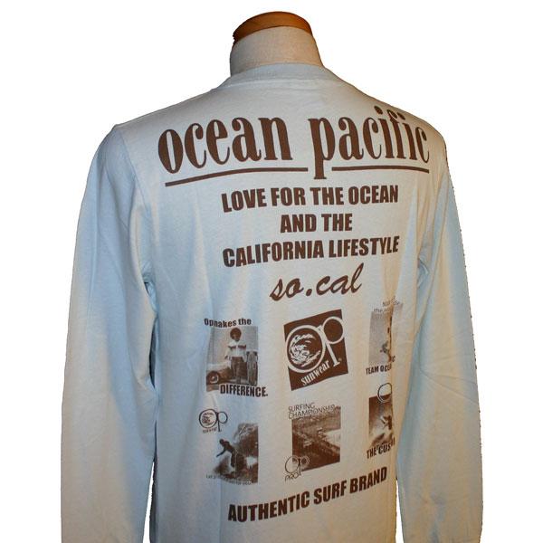 OCEAN PACIFIC(オーシャンパシフィック)_メンズ_長袖Tシャツ【水色(SAX)】_511072