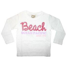 OCEAN PACIFIC(オーシャンパシフィック)_キッズ(女)_長袖Tシャツ【ホワイト(WT)】_581860