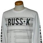 RUSS-K(ラスケー)_メンズ_長袖Tシャツ【ホワイト(01)】_311638301