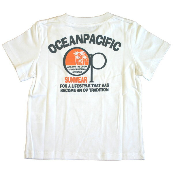 OCEAN PACIFIC(オーシャンパシフィック)_キッズ_半袖Tシャツ【ホワイト(WT)】_561521