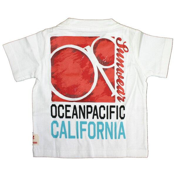 OCEAN PACIFIC(オーシャンパシフィック)_キッズ_半袖Tシャツ【ホワイト(WT)】_560507