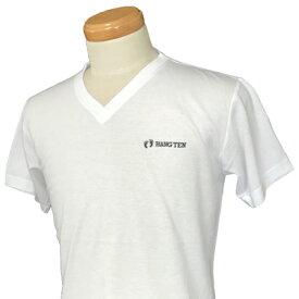 HANG TEN(ハンテン)_メンズ_Vネック半袖Tシャツ【ホワイト(WHITE)】_HT-TS-007