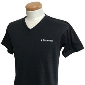 HANG TEN(ハンテン)_メンズ_Vネック半袖Tシャツ【ブラック(BLACK)】_HT-TS-007