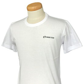 HANG TEN(ハンテン)_メンズ_クルーネック半袖Tシャツ【ホワイト(WHITE)】_HT-TS-006