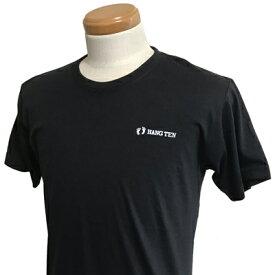 HANG TEN(ハンテン)_メンズ_クルーネック半袖Tシャツ【ブラック(BLACK)】_HT-TS-006