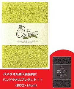浅野撚糸 エアーかおる ダディボーイ バスタオル ピスタチオグリーン 約60×120cm 今治産(ハンドタオルプレゼント)