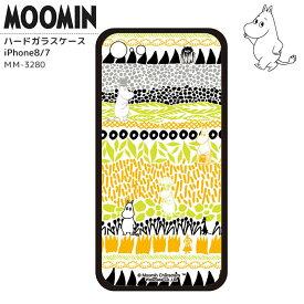 ムーミン iPhoneケース iPhoneカバー iPhone7 iPhone8 ハードガラスケース 背面ガラス 強化ガラス MOOMIN ミイ ムーミンパパ ムーミンママ おしゃれ かわいい キャラクター グッズ