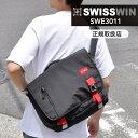 swisswin スイスウィン ショルダーバッグ 軽量 12L メンズ 斜めがけバッグ メッセージ...