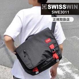 最大2000円OFFクーポン!swisswin スイスウィン ショルダーバッグ 軽量 12L メンズ 斜めがけバッグ メッセージバッグ 通学 鞄 アウトドア おしゃれ 通勤 防水