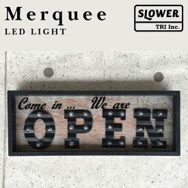 LINE限定クーポン配布中! マーキーライト オープン MERQUEE LIGHT OPEN LEDライト 置き型 壁掛け アルファベット OPEN sign オープンサイン インテリア 英字 プレゼント 贈り物 床置照明 レストラン 看板