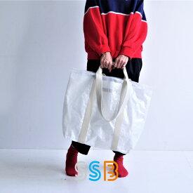 SSB エスエスビー トートバッグ Lサイズ 大容量 大きめ ショッピングバッグ ランドリーバッグ レディース メンズ 透明 ホワイト おしゃれ シンプル SSB-103