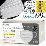 マスク4層50枚活性炭配合個包装マスク工業会正会員日本カケン認証ありPFE・BFE・VFE・花粉99%カット抗菌防臭大人用プリーツ式使い捨て不織布マスクますくフリーサイズウイルス飛沫PM2.5対応送料無料